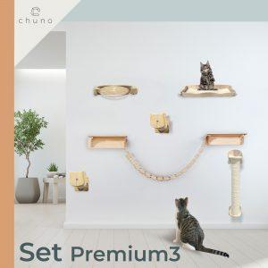ชุดบันไดแมว บ้านแมวติดผนัง แบบจัดเซ็ทราคาสุดคุ้ม