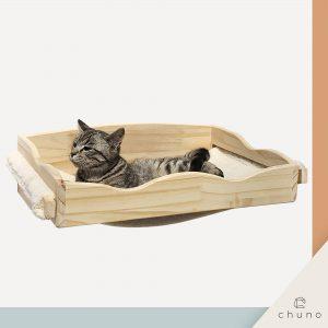 ชั้นแมวติดผนัง Chuno มีผ้าบุนุ่มเข้าชุด บันไดแมว คอนโดแมว